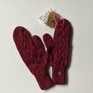 Alpaca knit mittens